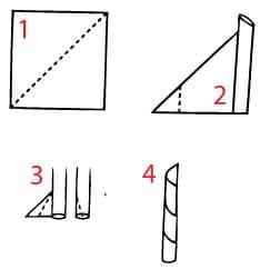 Как се сгъва салфетка обелиск