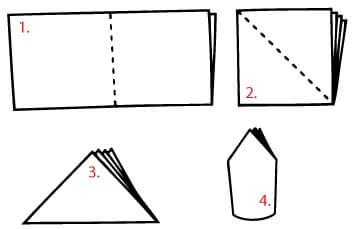 Как се сгъва салфетка шапка 1