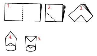 Как се сгъва салфетка шапка 3