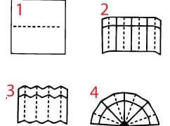 Как се сгъва салфетка ветрило
