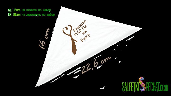 салфетки ергенско парти вратовръзка 16x22.6cm
