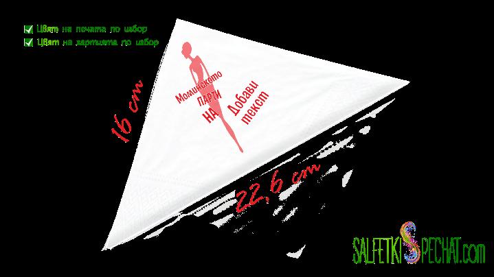 салфетки моминско парти силует 16x22.6cm