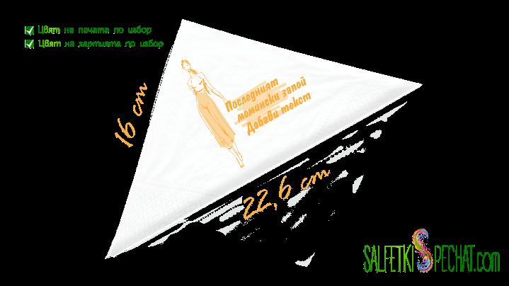 салфетки моминско парти запой 16x22.6cm