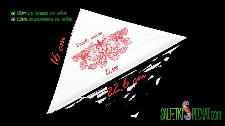 салфетка рожден ден за жена орнаменти 16x22.6cm