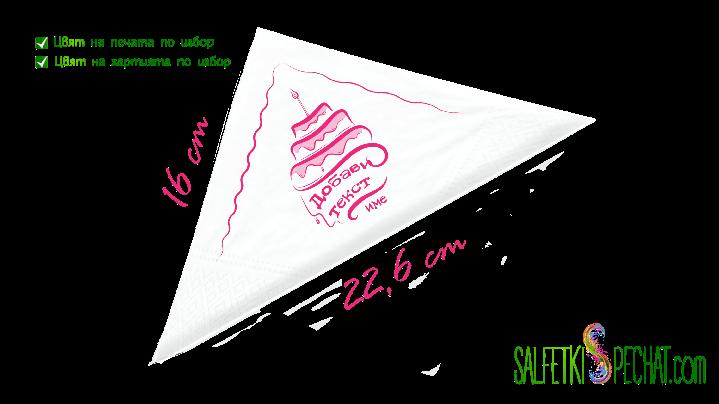 салфетка рожден ден за жена - стилизирана торта 16x22.6cm