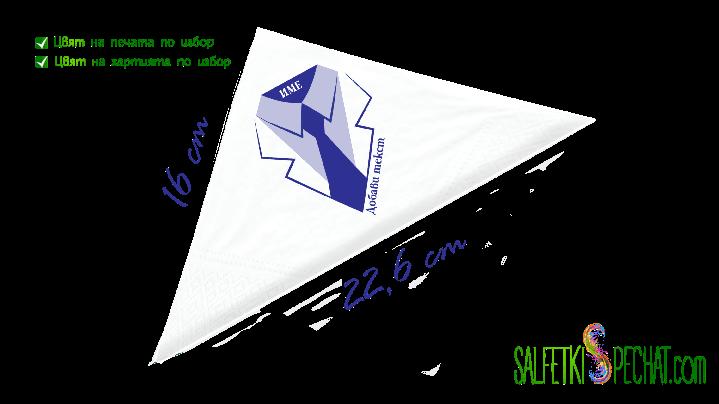 салфетки мъжки рожден ден - вратовръзка 16x22.6cm