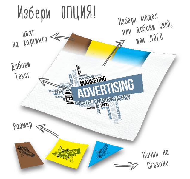 Дизайн салфетки рекламни агенции