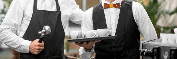 Сервитьори с табли