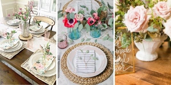 Декорации за маса в розово