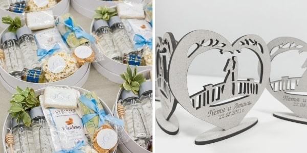Сватбена кутия за добре дошли - подаръци за гости
